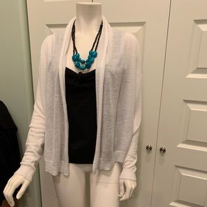 Lightweight open front white cardigan size medium